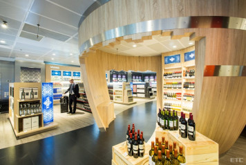 Fine food, sweets and alcohol duty-free shop, Boryspil International airport (Kiev, Ukraine)