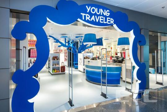 """Young Traveler"" duty-free shop, Boryspil International airport (Kiev, Ukraine)"