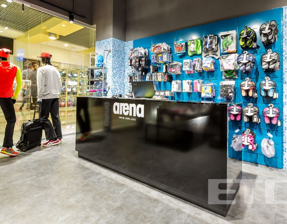 ARENA store in the mall Gulliver